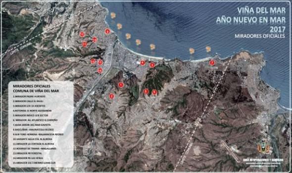 Municipio  de Viña del Mar habilita 70 miradores en la parte alta para año nuevo
