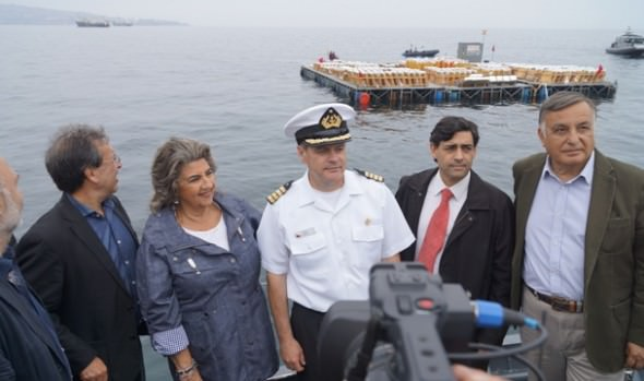 Fondeo de plataformas de lanzamiento para espectáculo Año Nuevo en el Mar, inspeccionó alcaldesa Virginia Reginato