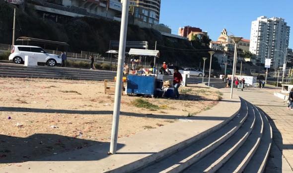 38  toneladas de basura se retiraron en  Viña del Mar tras espectáculo de Año Nuevo