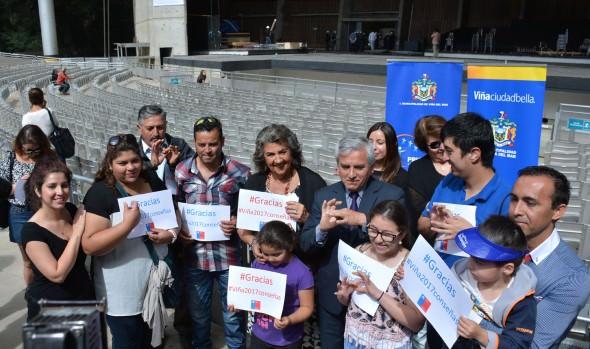 Agradecen a alcaldesa Virginia Reginato por su apoyo de inclusión de lengua de señas  en Festival de Viña