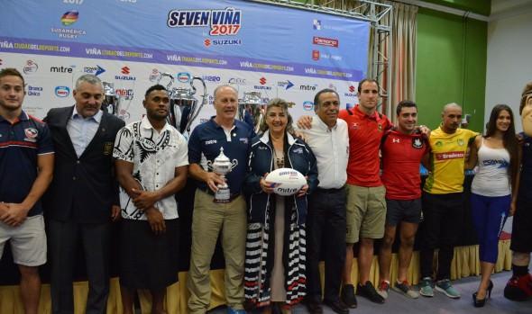 Lanzamiento del Seven Viña, la fiesta del Rugby Mundial,  encabezó alcaldesa Virginia Reginato