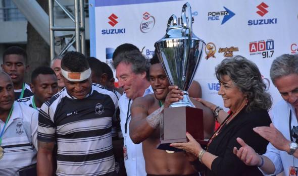 Trofeo del Seven Viña 2017, a Fiji, fue entregado  por alcaldesa Virginia Reginato