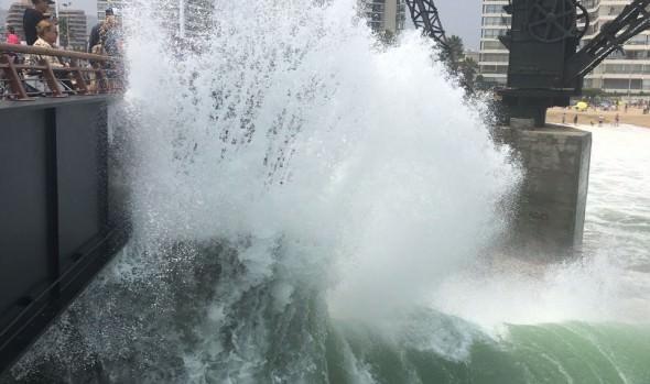 Municipio de Viña del Mar adopta medidas por aviso de intensas marejadas