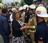 Fuerza Conjunta de bomberos que combatió incendios en el sur, fue recibida por alcaldesa Virginia Reginato autoridades regionales