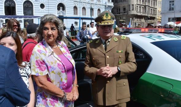 Alcaldesa Virginia Reginato valora refuerzo de nuevos vehículos policiales para Viña del Mar