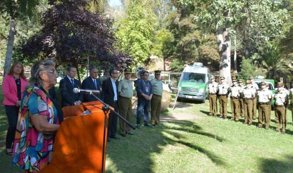 Cuarteles temporales de Carabineros y PDI en la Quinta Vergara fueron inaugurados por alcaldesa Virginia Reginato