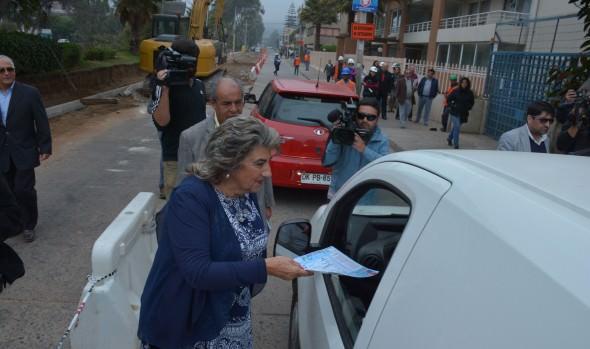Autoridades reiteran a la comunidad de Reñaca medidas de tránsito por obras complementarias de la Vía PIV