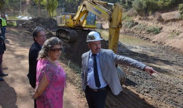 Nuevo tranque desarenador en Forestal fue inspeccionado por alcaldesa Virginia Reginato y Seremi  MOP