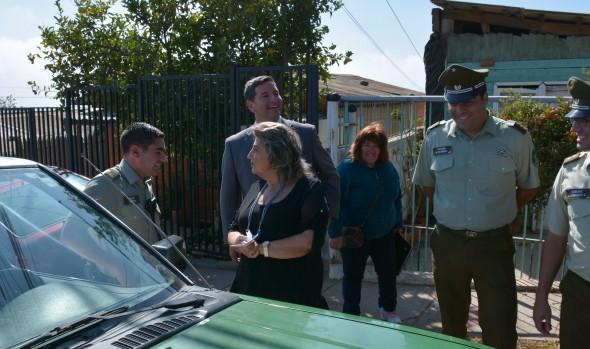 """Con simulacro de """"portonazo"""", alcaldesa Virginia Reginato comprobó eficacia de sistema de alarmas comunitarias en Chorrillos"""