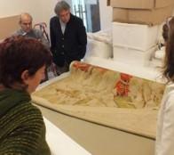 Municipio de Viña del Mar restauró 18 antiguos textiles del Palacio Vergara