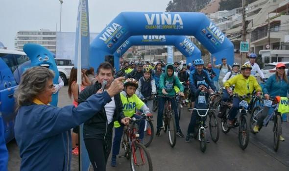 En Reñaca, 500 personas participaron en la 1ª fecha de Cicletadas familiares 2017, organizada por Municipalidad de Viña del Mar
