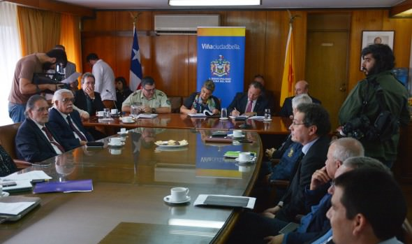 Municipio de Viña del Mar, Armada, Carabineros y PDI firman acta de Comisión conjunta para coordinar eventos en la comuna