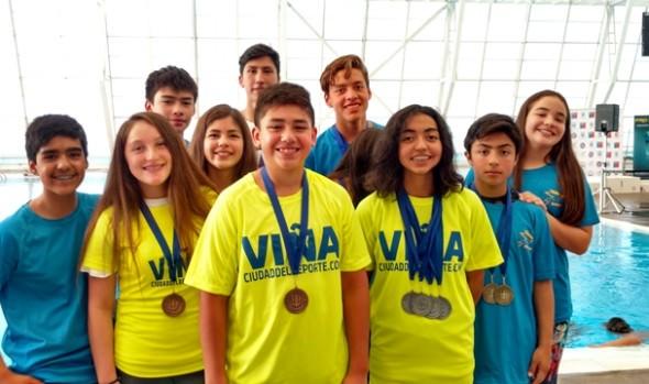 Escuela de Natación de  Casa del Deporte de Viña del Mar destacó en torneo nacional de la especialidad