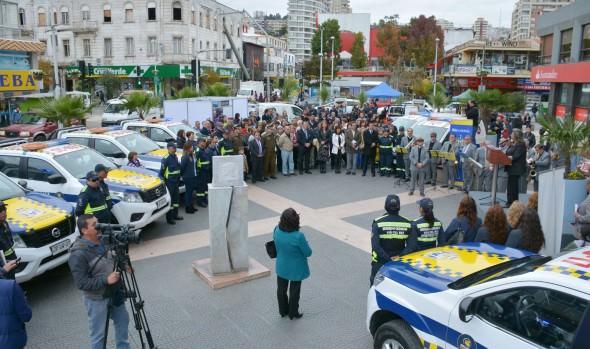 Municipio de Viña del Mar renovó flota de vehículos de Seguridad Ciudadana que incorporan nueva  tecnología