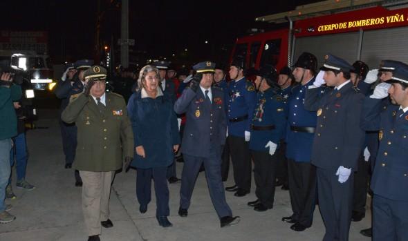 Inauguración de cuartel de  3ª Compañía Cuerpo de Bomberos de Viña del Mar encabezó alcaldesa Virginia Reginato