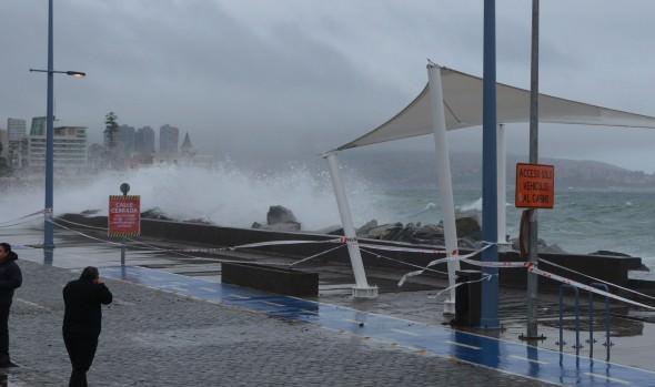 Municipio de Viña del Mar se mantiene alerta ante anuncio  de intenso sistema frontal