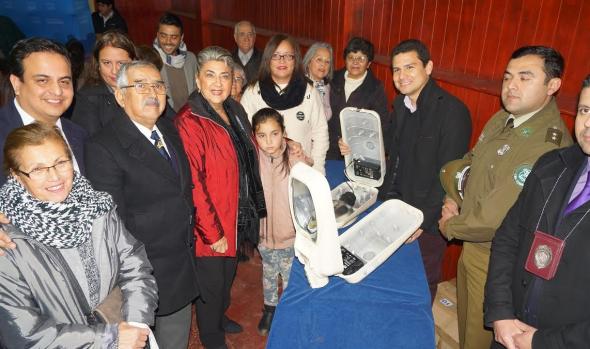 Nuevas luminarias para sector de Nueva Aurora entregó alcaldesa Virginia Reginato