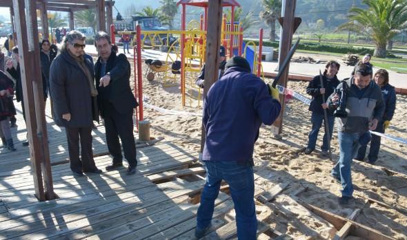 Municipio de Viña del Mar  constató daños de infraestructura del borde costero afectada por sistema frontal