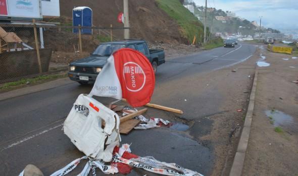 Alcaldesa Virginia Reginato solicitó recursos al MOP para reparar socavones