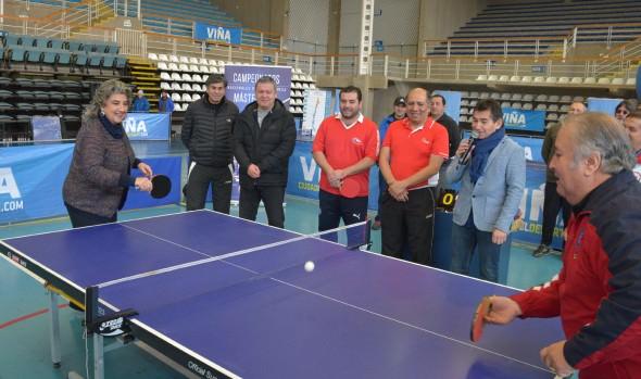 Lanzamiento de Primer  campeonato nacional de tenis de mesa máster encabezó alcaldesa Virginia Reginato