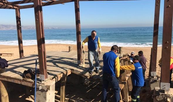 Municipalidad de Viña del Mar inició trabajos de recuperación del borde costero