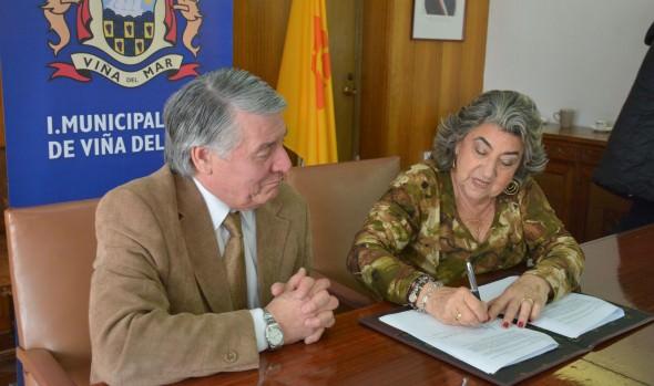 Municipalidad de Viña del Mar firma convenio de colaboración con Tesorería provincial