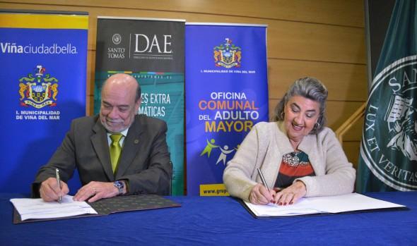 Municipio de Viña del Mar y UST suscriben convenio  que beneficiará a vecinos viñamarinos