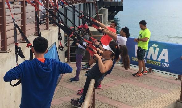 Mañanas fitness volvieron en gloria y majestad a Viña del Mar