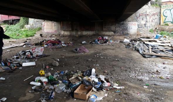 Municipio de Viña del Mar realizó operativo de limpieza y despeje bajo  Puente Mercado