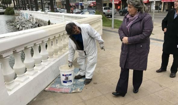 Viña del Mar se prepara para Fiestas Patrias repintando espacios públicos
