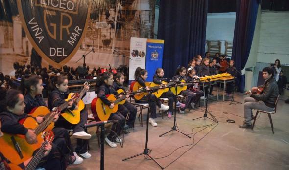 Estudiantes  se lucieron en 1ª muestra de talleres interescolar de la Casa de las Artes de Viña del Mar