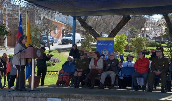 Santa Inés celebró 108 años con reconocimiento a  vecinos y desfile encabezado por  alcaldesa Virginia Reginato