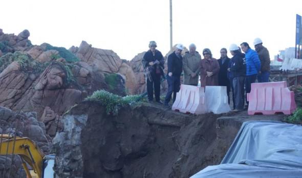 Reparación de  socavones  en Cochoa y Las Cañitas por parte del MOP destacó  alcaldesa Virginia Reginato