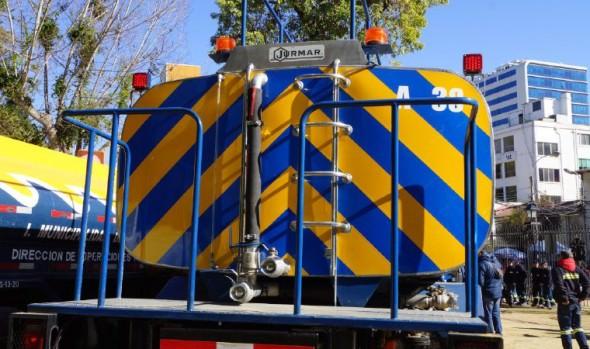 Municipio de Viña del Mar incorpora dos modernos y funcionales camiones aljibes a su flota