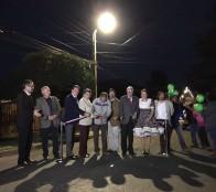 Encendido de mejoramiento de luminarias en Reñaca Alto encabezó alcaldesa Virginia Reginato