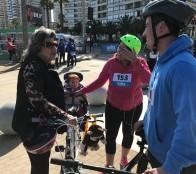 Masiva participación  tuvo 2ª fecha de cicletadas familiares en Viña del Mar