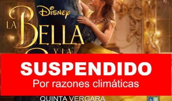 """Municipio de Viña del Mar informa suspensión  de película """"La bella y la Bestia"""" en la Quinta Vergara por condiciones climáticas"""