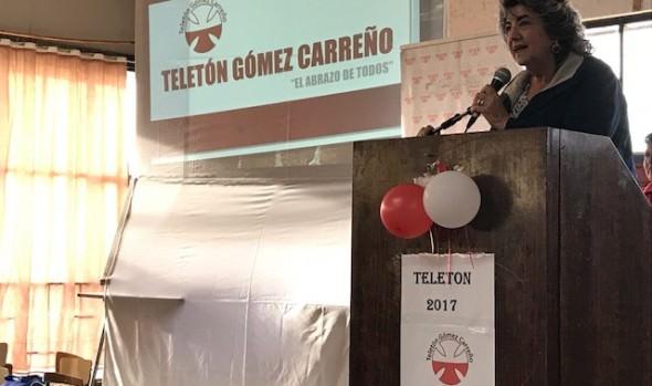 Gómez Carreño lanzó 2ª campaña para apoyar a la Teletón, con la presencia de alcaldesa Virginia Reginato