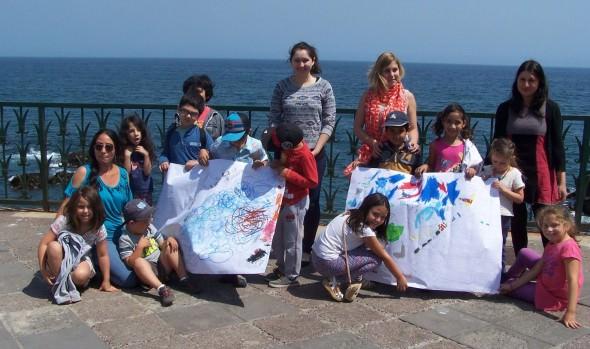 Municipio de Viña del Mar realiza taller de arte de marina para celebrar el océano en semana de la ciencia