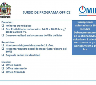Municipio de Viña del Mar ofrece curso de programa office a la comunidad