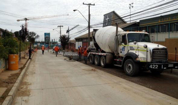 Municipio de Viña del Mar informa que pavimentación de Gómez Carreño inicia  última etapa de reposición