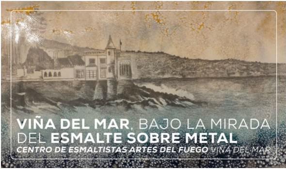 Municipio de Viña del Mar invita a exposición que retrata a la ciudad en obras de esmalte sobre metal