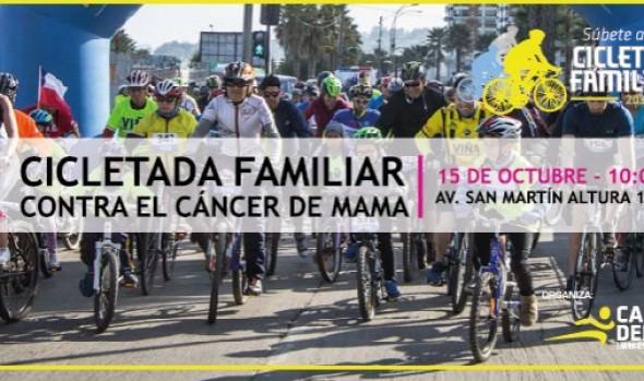 Municipio de Viña del Mar invita a cicletada  familiar en marco de campaña contra el cáncer de mama