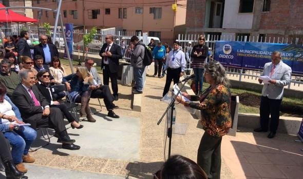 Dos espacios públicos en Glorias  Navales inauguró alcaldesa Virginia Reginato y ministra de vivienda