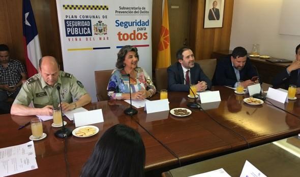 Consejo comunal de seguridad pública de Viña del Mar presentó plan 2018-2020