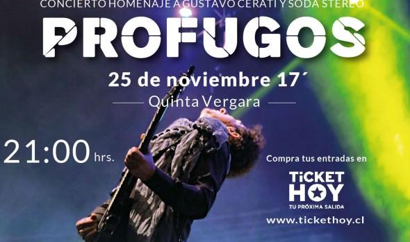 Municipio  de Viña del Mar invita a tributo de Soda Stereo y Gustavo Cerati en la Quinta Vergara