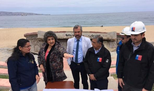 Inicio de obras para reponer escenario de anfiteatro de Playa del deporte destacó alcaldesa Virginia Reginato