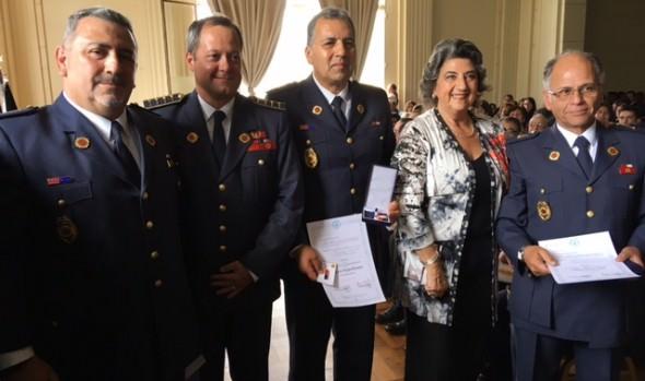 Labor de bomberos de Viña del Mar destacó alcaldesa Virginia Reginato durante el 133º aniversario institucional