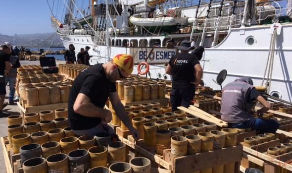 Comenzó instalación de fuegos artificiales en plataformas de lanzamiento para Año Nuevo en el Mar
