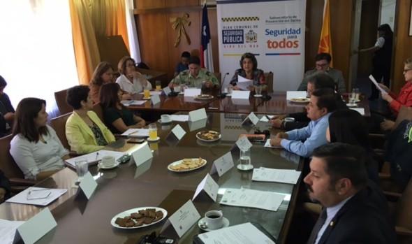 Consejo comunal de Seguridad Pública de Viña del Mar entregó balance de proyectos realizados en 2017